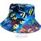 Bucket Sun Hat,12-24m baby, under the sea ocean, fish angelfish clownfish, coral